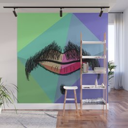 Colorful Mustache Wall Mural
