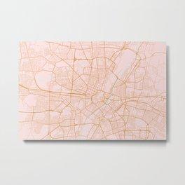 Munich map, Germany Metal Print