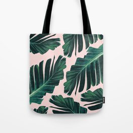 Tropical Blush Banana Leaves Dream #1 #decor #art #society6 Tote Bag