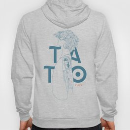 TATTOO CHICK WHITE Hoody