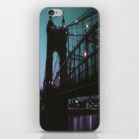 cincinnati iPhone & iPod Skins featuring Cincinnati by The Violet Noir