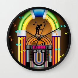 Jukebox Jam (His) Wall Clock