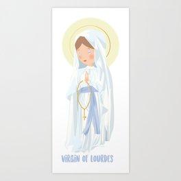 Virgin of Lourdes Art Print