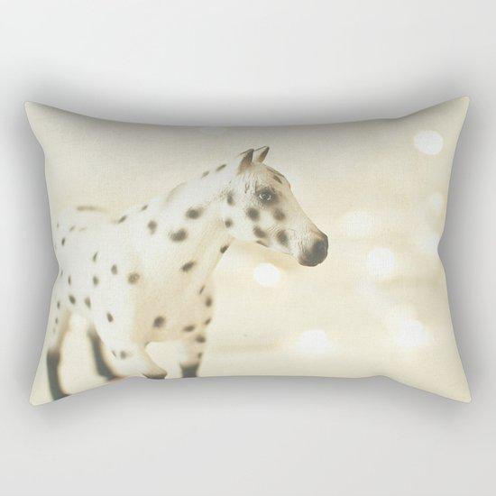 Horse in Winter Rectangular Pillow
