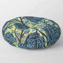 Black and Blue Floor Pillow