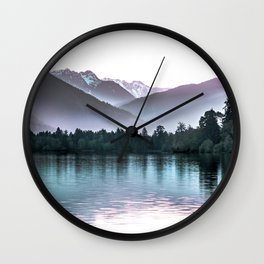 Shimmers of Quinault Lake Wall Clock