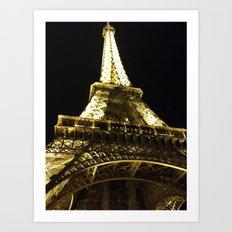 Tour Eiffel By Night Art Print