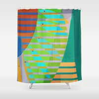 lama Shower Curtains featuring A Lama, o Mangue e o Mar (The Mud, the Mangue and the Sea) by Fernando Vieira