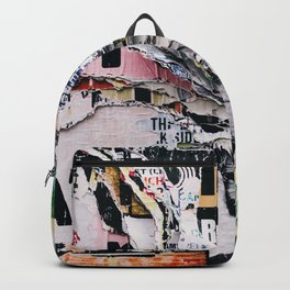 Torn mexican posters wall Backpack