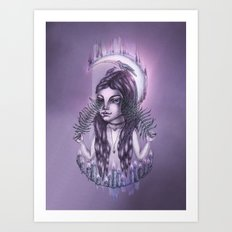 Midnight divination Art Print