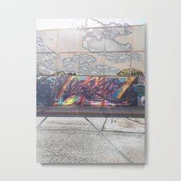 Graffiti on the street Metal Print