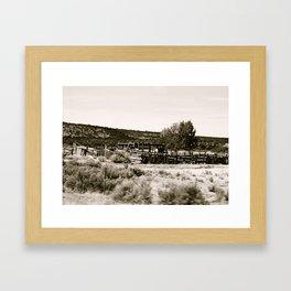 moving ground Framed Art Print