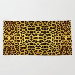 Leopard Print - Gold Beach Towel