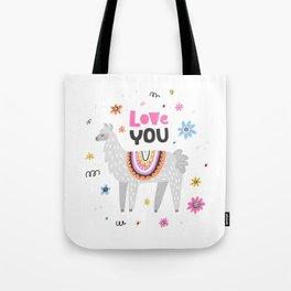 Love you lama Tote Bag