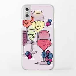 Wine and Grapes v2 Clear iPhone Case