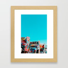 West Coast Road Trips Series: Cadillac Ranch Framed Art Print