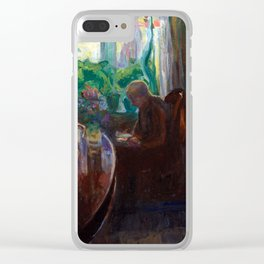 Thorvald Erichsen Interior with the Painter Oluf Wold-Torne Clear iPhone Case