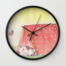 Glamping Wall Clock