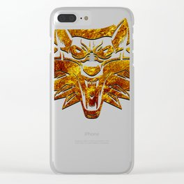 The Witcher logo gold Clear iPhone Case