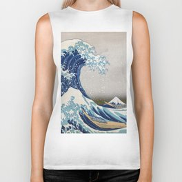 Under the Wave off Kanagawa - The Great Wave - Katsushika Hokusai Biker Tank