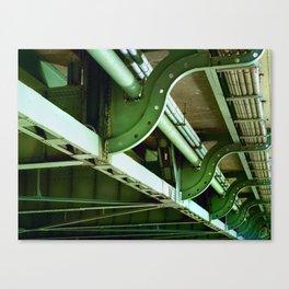 Underbelly, bridge, Oregon Canvas Print