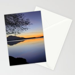 Peace at the lake Stationery Cards