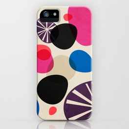 Pebbles – abstract and decorative illustration iPhone Case