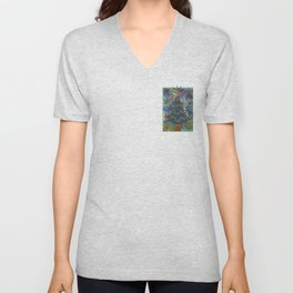 Christmas D3 - Triangle Tree Unisex V-Neck