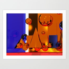 Abstract Atmosphere Art Print