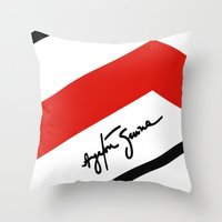 senna Throw Pillows featuring Ayrton Senna Mclaren Honda Formula 1 by Krakenspirit