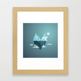 Low Poly Polar Bear Framed Art Print