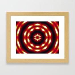 Supermoon Mandala Framed Art Print