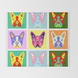 Boston Terrier Pop Art Throw Blanket