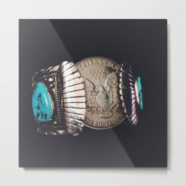 Native American Cuff Metal Print