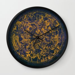 Vintage Constellations & Astrological Signs | Purple Galaxy Wall Clock