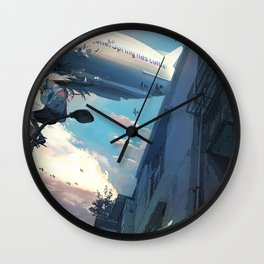 Dream of the sky Original Artwork Wall Clock
