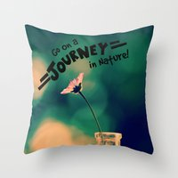 journey Throw Pillows featuring Journey by RDelean