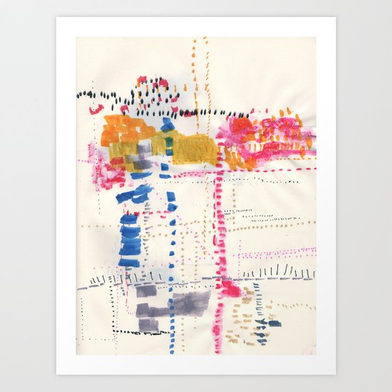 Map To Morocco. Second Stage.  Art Print