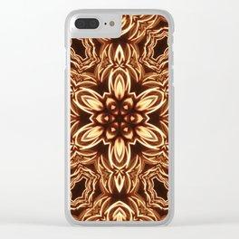 Fractal Filament Blast Pattern Clear iPhone Case