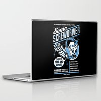 sonic Laptop & iPad Skins featuring Sonic Screwdriver by harebrained