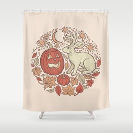 Halloween Friends | Autumn Palette Shower Curtain