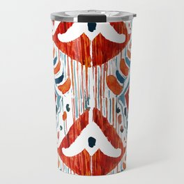 red bali ikat Travel Mug