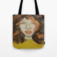 afro Tote Bags featuring Afro by Stephon Daniels