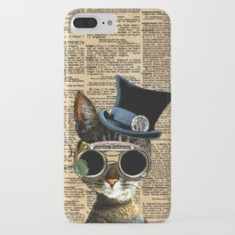 Clockwork Kitty Steampunk Cat iPhone Case