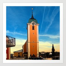 The village church of Neufelden II | architectural photography Art Print