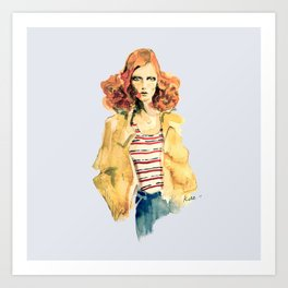 Portrait of Karen Elson Art Print