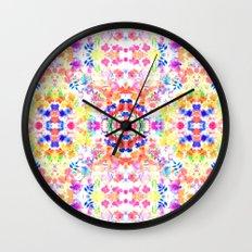 Floral Print - Brights Wall Clock