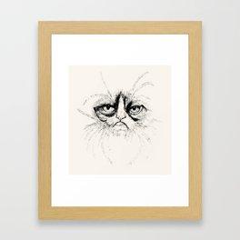 Grumpy Face Framed Art Print