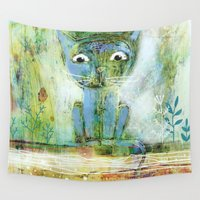 fishing Wall Tapestries featuring fishing by Agnes Laczo