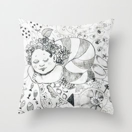 Sweet Dreams by Ines Zgonc Throw Pillow